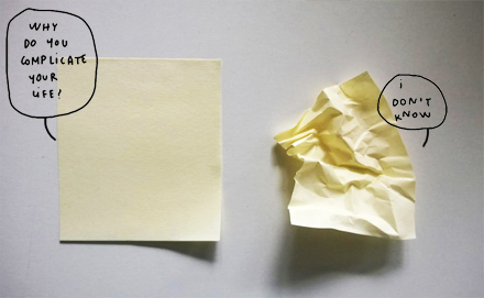 post it complicated