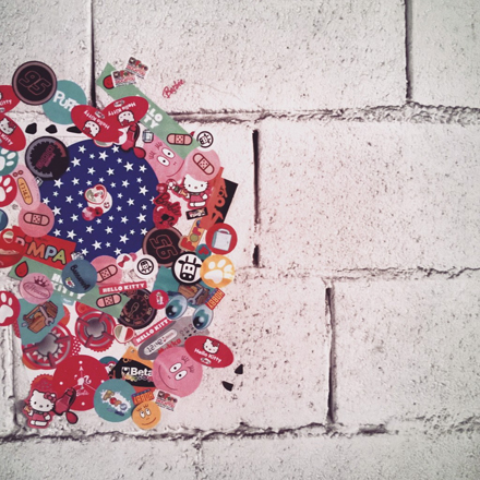 stickers wall
